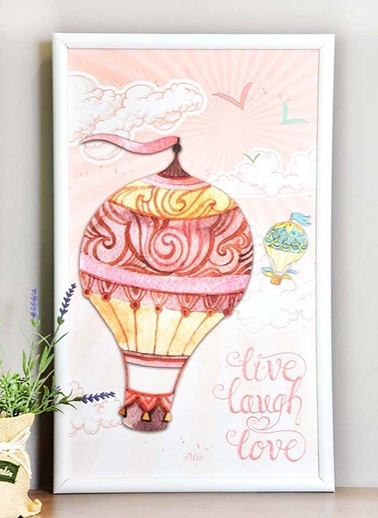 Tablo Balon A - 50*30 Cm -The Mia